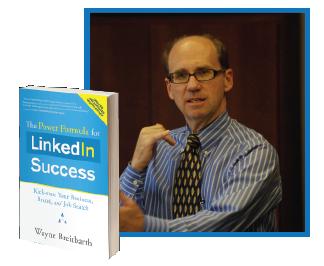 Wayne with his book LinkedIn Success
