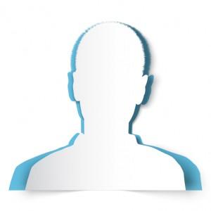 Paper man's silhouette avatar