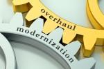 Overhaul Modernization concept on the gearwheels