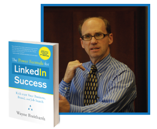 Wayne with his book LinkedIn Success