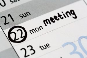Blue Monday? Meeting marked on calendar at start of week
